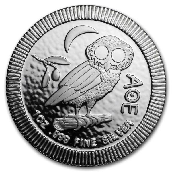 Athenian Owl 1 troy ounce zilveren munt 2018