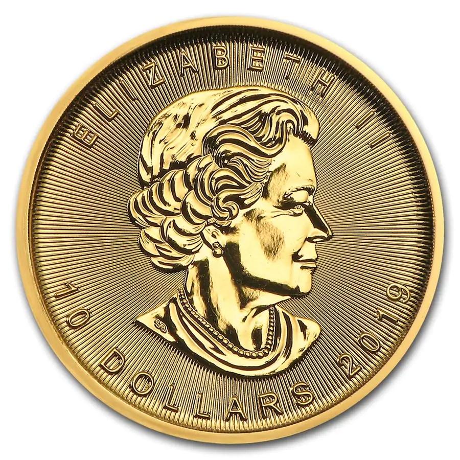 Maple Leaf 1/4 troy ounce gouden munt 2019