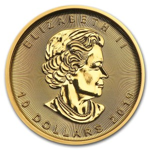 Maple Leaf 1/4 troy ounce gouden munt 2019