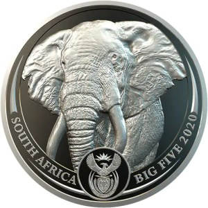 Elephant 1 troy ounce platina
