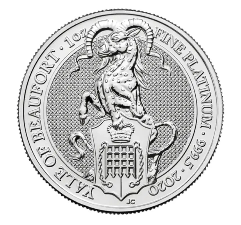 Queenst Beast Yale 1 troy ounce platina