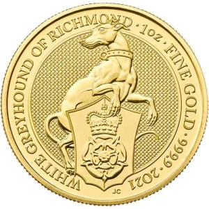 Greyhound 1 troy ounce gouden