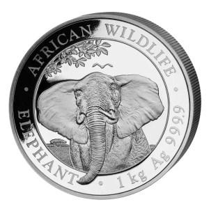 Somalia Elephant 1 kilo zilveren munt 2021