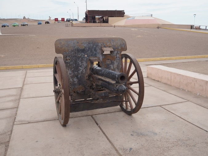 Cannon at the top of the hill – Arica