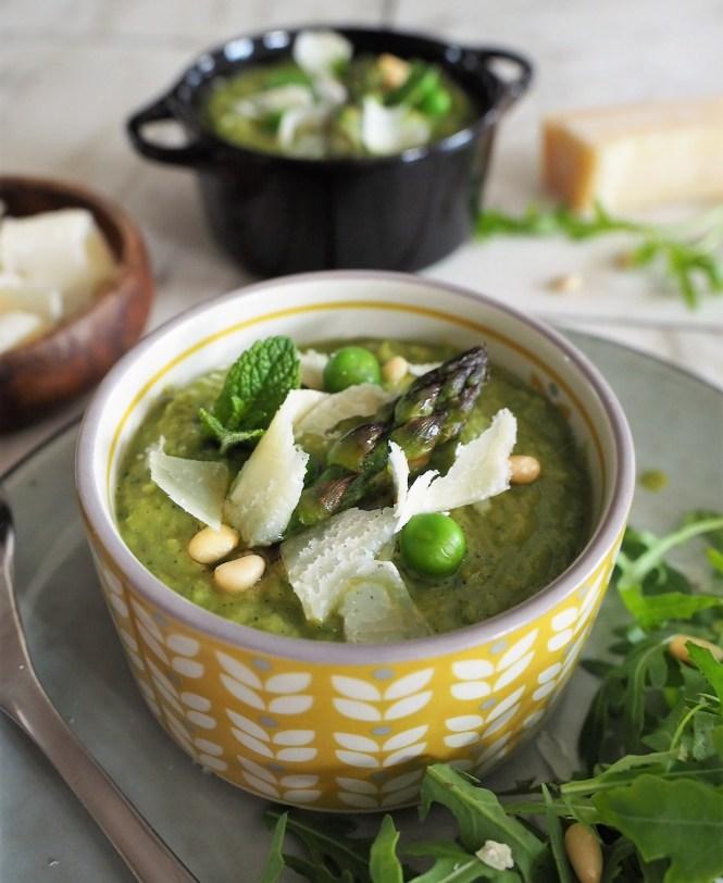 soupe asperges petits pois menthe