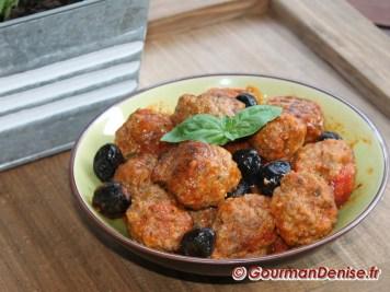 Boulettes au parmesan et aux olivies