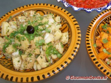 Salade pommes de terre à l'orientale