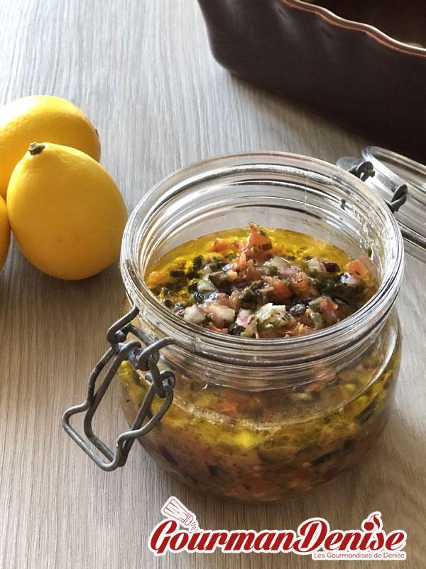 sauce vierge olives noires