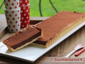 Tarte chocolat framboises