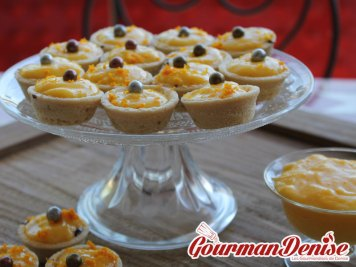 Tarte orange curd et chocolat