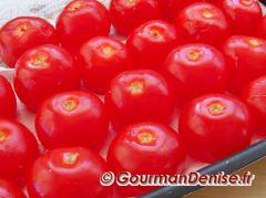 égouttage des tomates