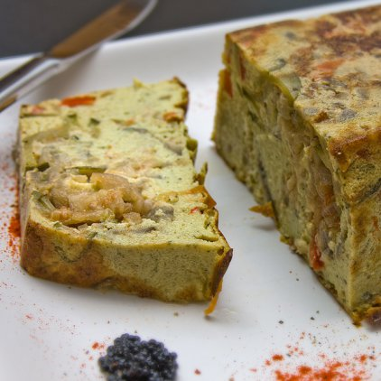 Salty cakes with vegetables