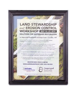 Ampersand Sustainable Learning Center Land Stewardship Poster 2012