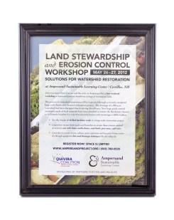 Ampersand Sustainable Learning Center Land Stewardship Poster 2012