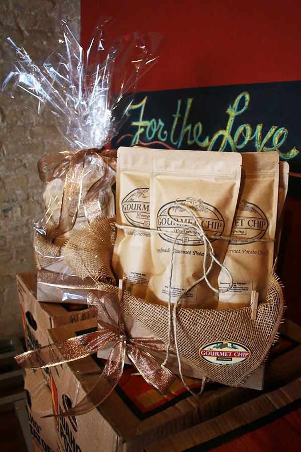 goumet chip company gift basket