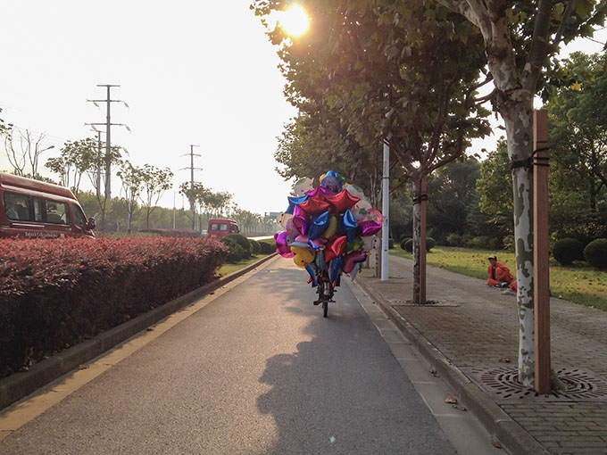 Shanghai Balloons on Pudong Streets Expat Food Memories