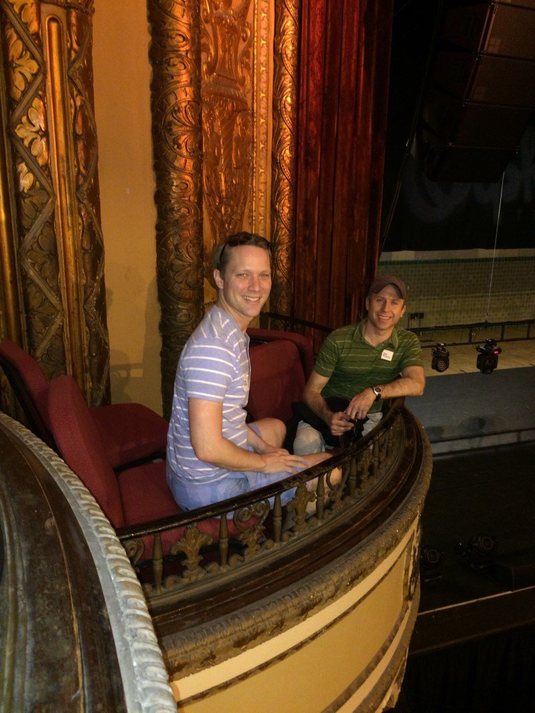 Kevin and I feel like we're on the stage at the Orpheum in the box seats. They even have their own separate staircase.