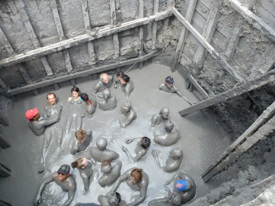 Inside the muddy volcano