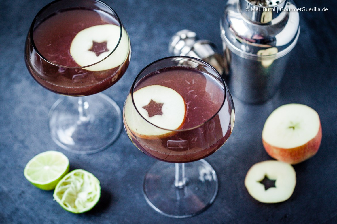 Pink Appletinis Cocktail | GourmetGuerilla.de