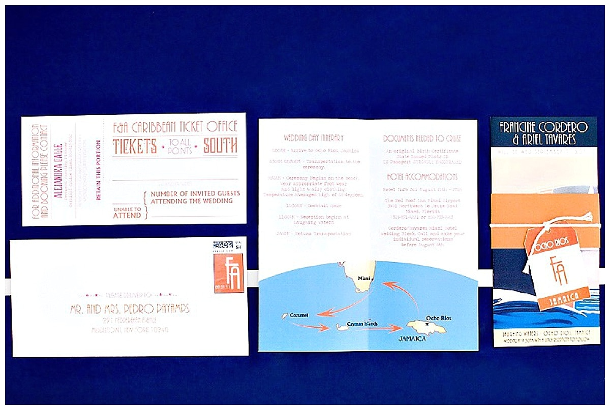cruise wedding invitations