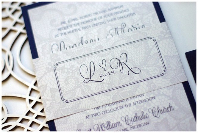 Lace And Kraft Vintage Fl Botanical Wedding Invitations In By