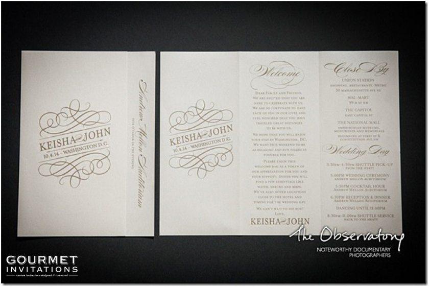 Washington Dc Themed Wedding Invitations Gourmet 0002