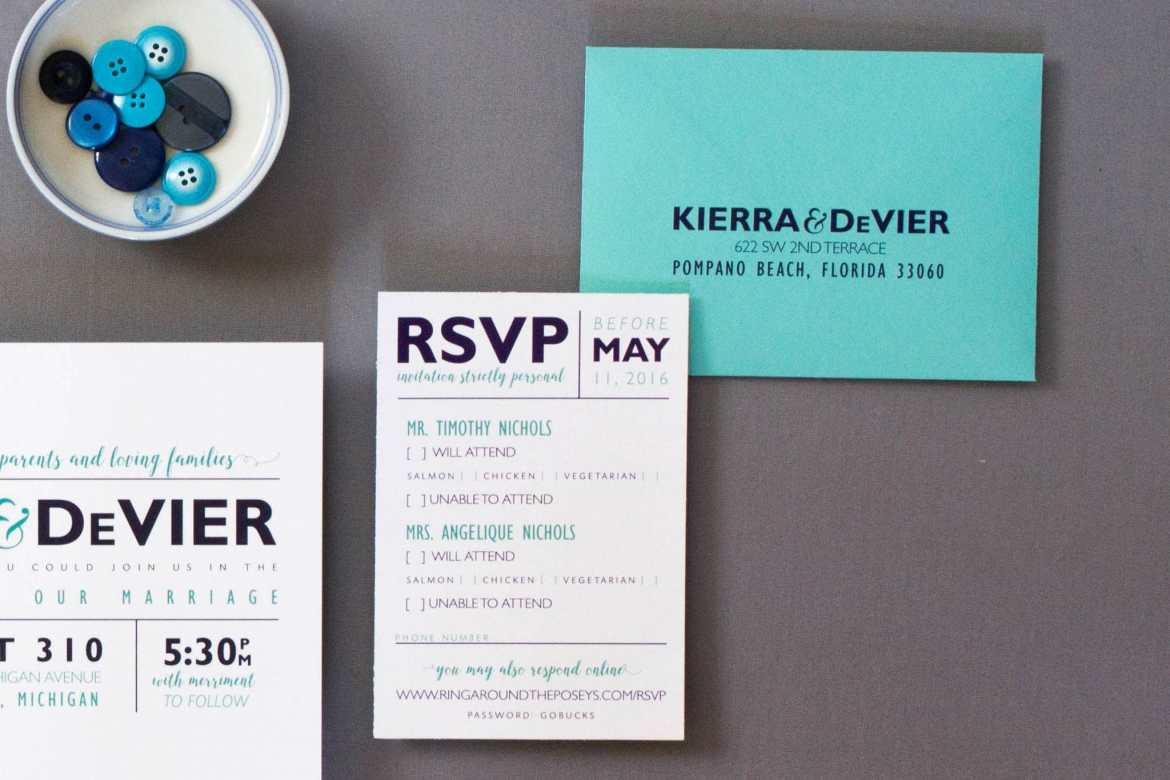 personalized rsvp card