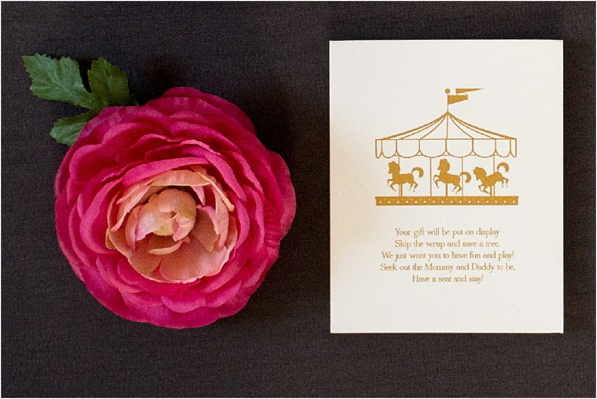 music box invitation