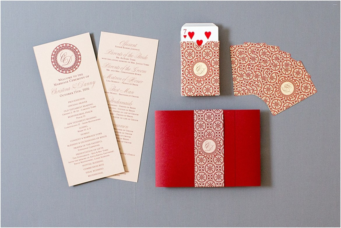 wedding playing cards