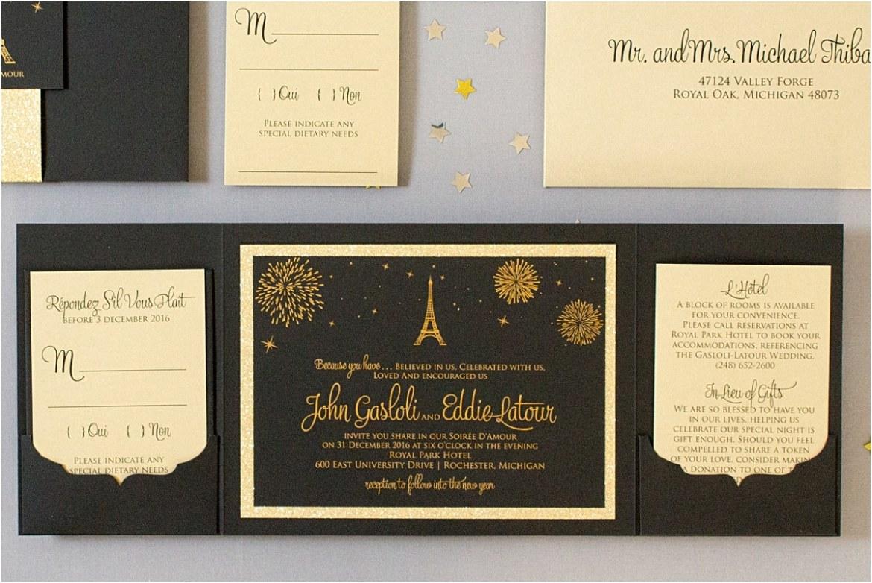 eiffel tower invitations