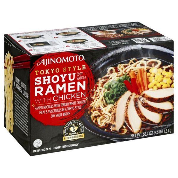 Ajinomoto Tokyo Style Shoyu Ramen with Chicken Side