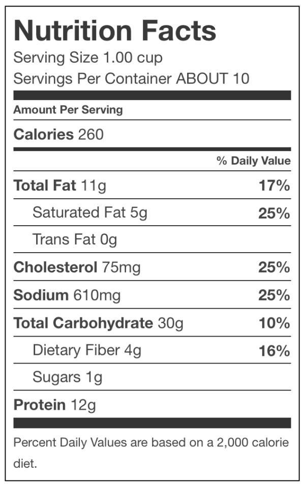 Rana Italian Sausage Ravioli Nutrition Facts