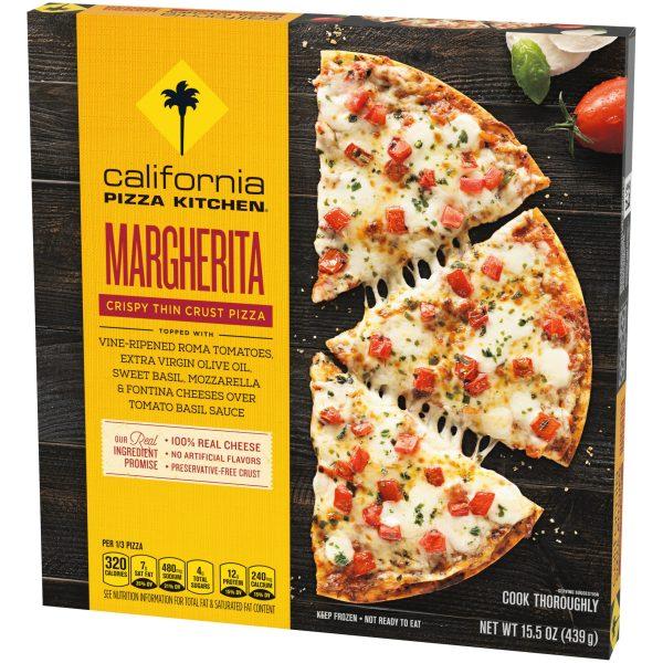 Margherita Crispy Thin Crust Pizza Angle 2