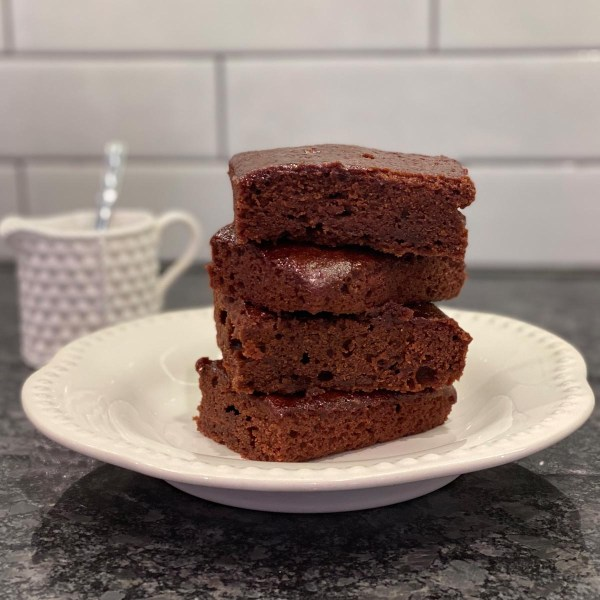 Plated Brownies