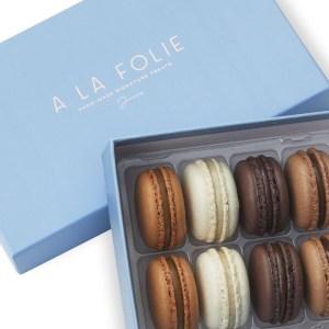 A La Folie Macarons Box of 16 Chocolates Feature