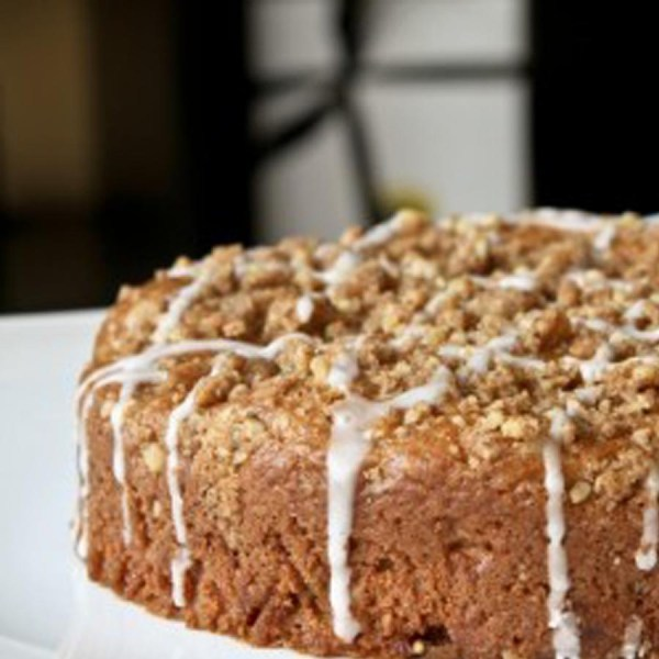 Apple Streusel Plated Square