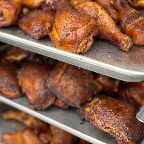 Gourmet Kitchn Austin Smoked Chicken with BBQ Square