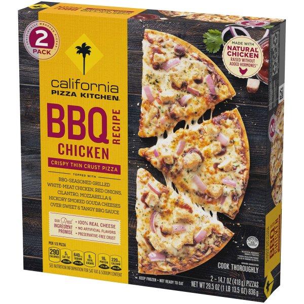 California Pizza Kitchen BBQ Chicken Crispy Thin Crust Pizza Angled 2