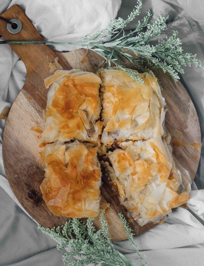 Pumpkin Filo Pie (Byrek Me Kungal)- Albania