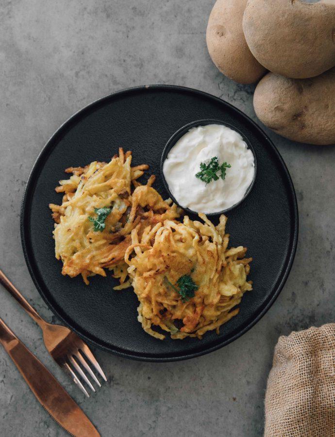 Mushroom-stuffed Potato Cakes (Draniki)- Belarus