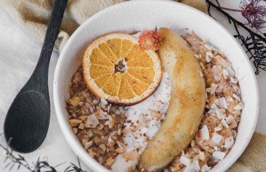Orange Caramelised Banana Porridge- Benin