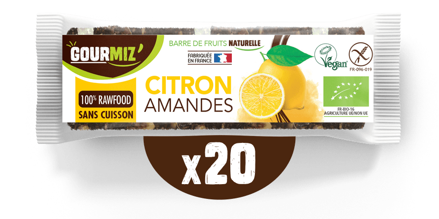 Barre Gourmiz' : citron - amandes
