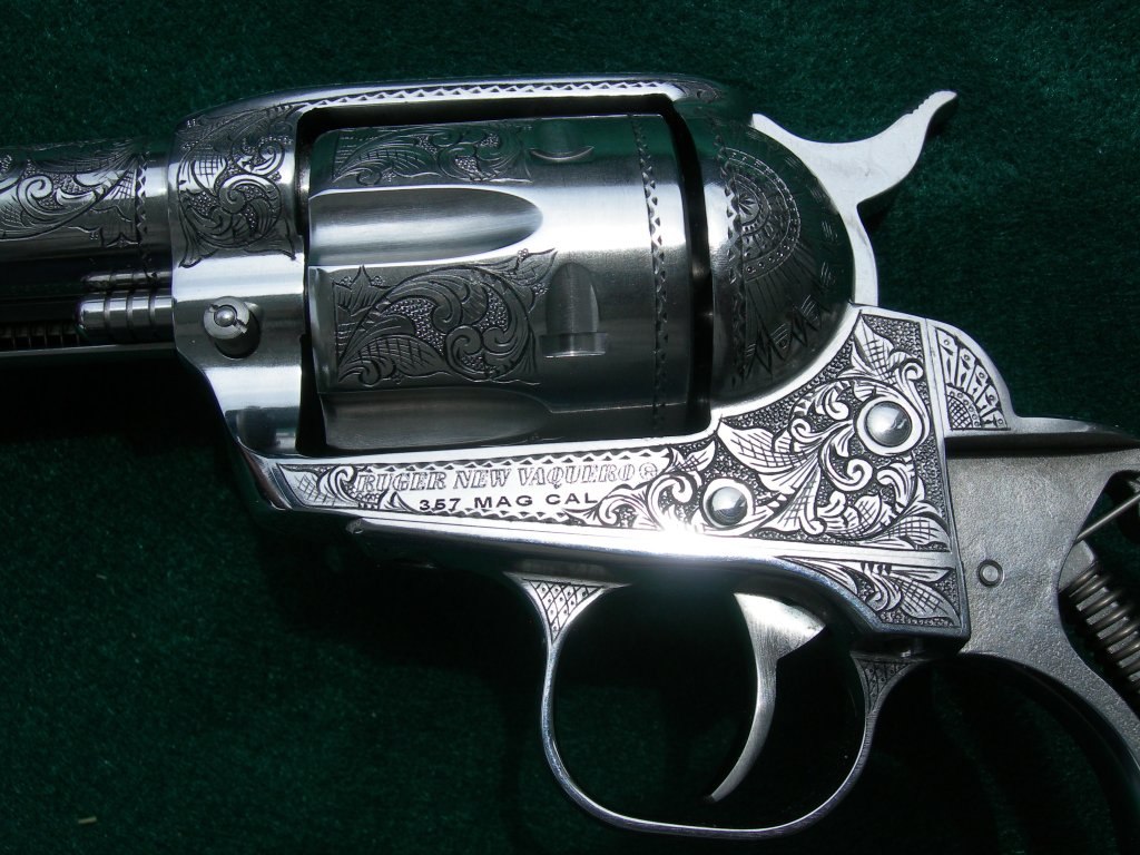 Inked cuts example on a Ruger revolver.