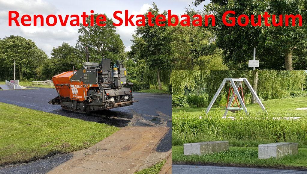 Renovatie skatebaan Goutum begonnen