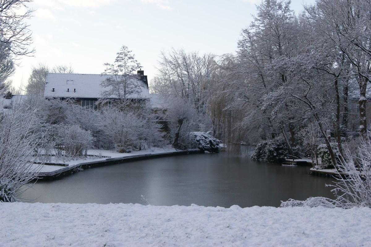 Eerste sneeuw deze winter