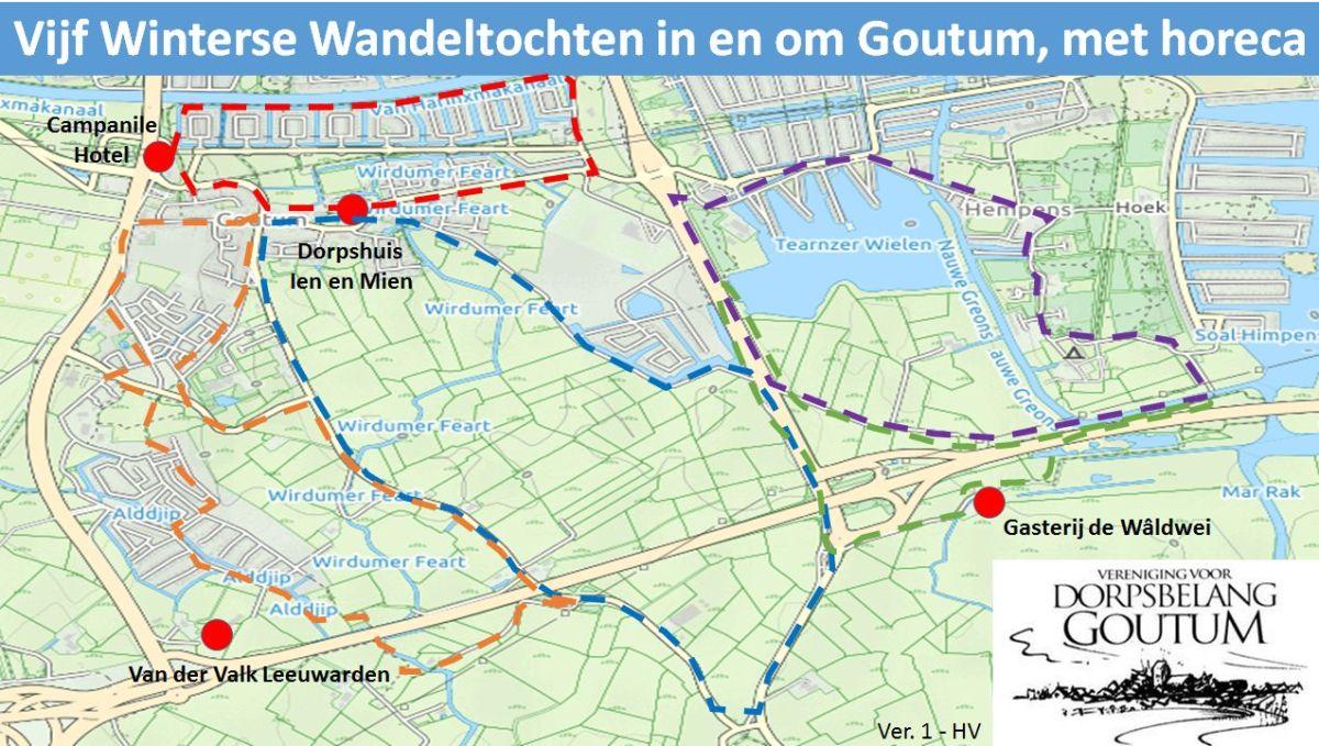 Vijf Winterse Wandeltochten in en om Goutum