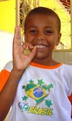 A kid from NGO Casa do Menor RIO 2007