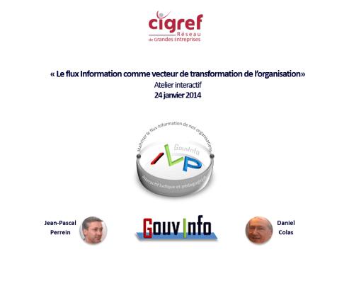 Atelier ILP CIGREF « Gouvernance de l'information et transformation »