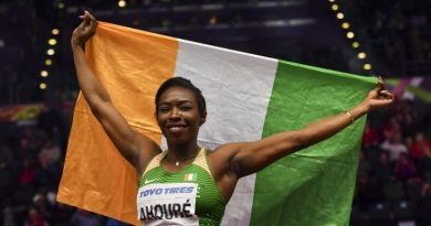 Ivorian Murielle Ahouré wins the 60m world title