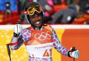 Sabrina all smiles at the 2018 Winter Olympics representing Kenya